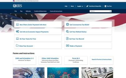 IRS Website Stimulus Check
